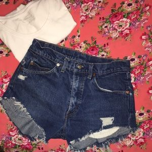Levi's Shorts - Levi's High Waisted Cut Off Distressed Shorts